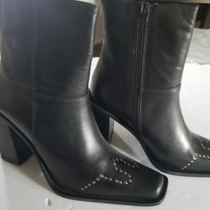 SALE 30% OFF May Be  leather bootie with nail head